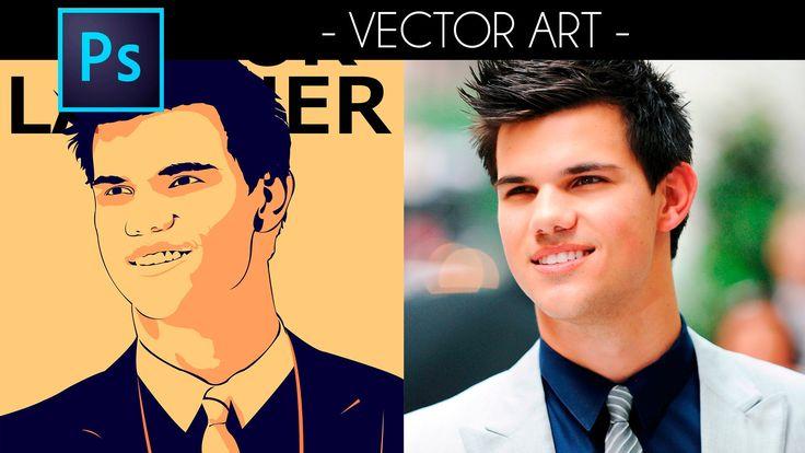 Tutorial Photoshop:  Efecto Vector - Portrait Vector Art