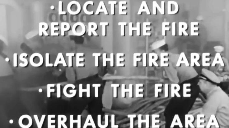 Damage Control: Shipboard Firefighting, Basic 1960 US Navy Training Film https://www.youtube.com/watch?v=fi6kPskBgIg #USN #fire #firefighting