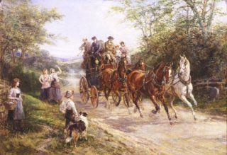 The London Coach by Heywood Hardy. (1843 - 1933)