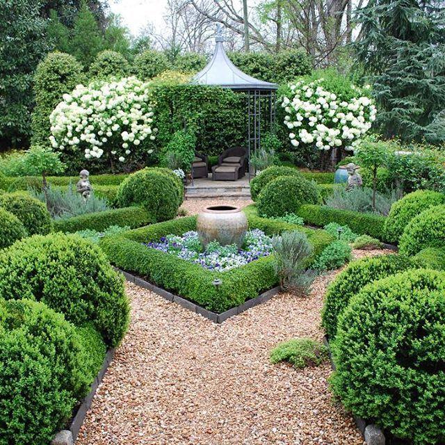 Beautiful parterre garden at this Atlanta home. #boxwood # ...
