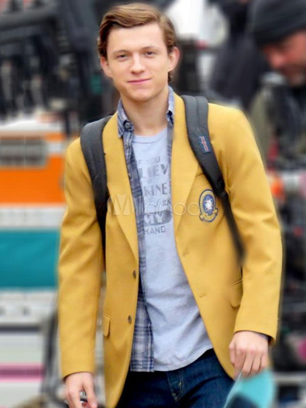 hot Spider-Man Homecoming Tom Holland Peter Parker Blazer Cosplay jacket Uniform