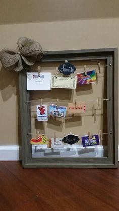 Gift Card Frame | DIY Christmas Baskets for Teens