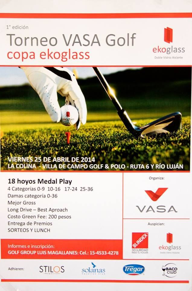 Torneo VASA de Golf - Copa ekoglass. La Colina, Villa de Campo, Golf & Polo. By Stilos Magazine.