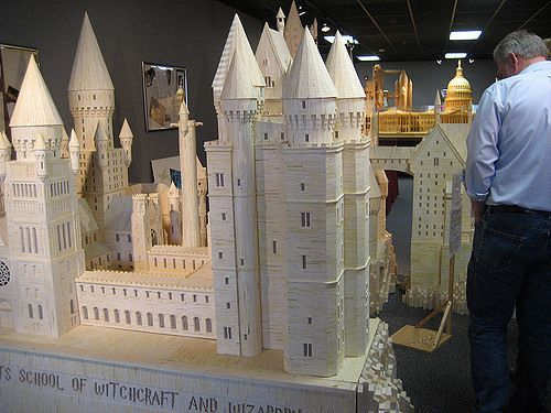 A single artist is behind these large-scale models made of hundreds of thousands of two-inch wooden matchsticks.