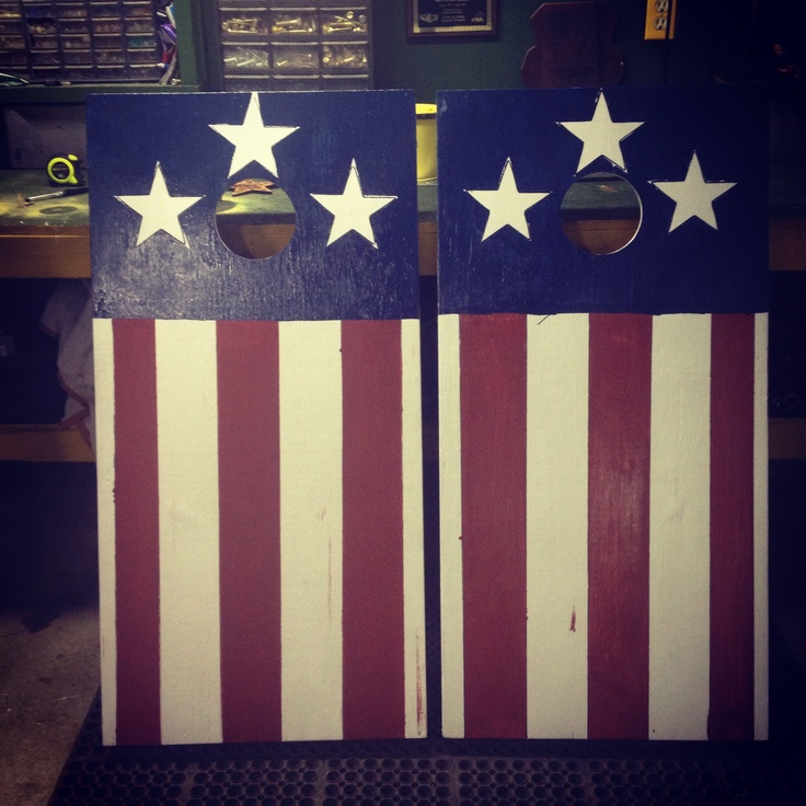 cute idea for corn hole boards super easy to do loved making this for - Cornhole Design Ideas