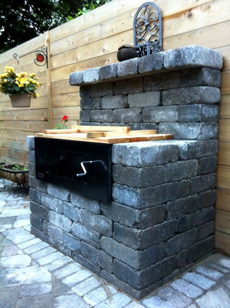 27 best images about braai building on pinterest brick for Built in outdoor grill plans