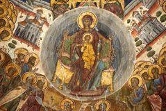 Vieja pintura cristiana Imágenes de archivo libres de regalías