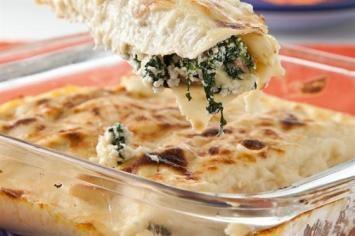 El Diario Noticias: Canelones de espinaca y queso