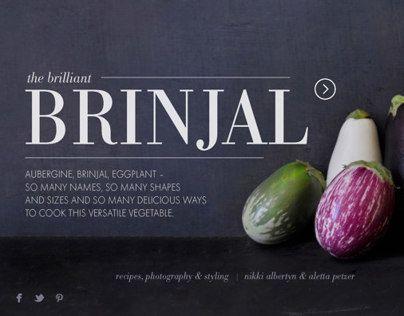 Brinjal, Styling & design for Crush Online Magazine