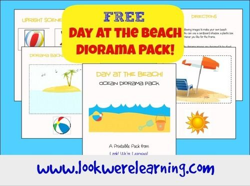 Day at the Beach Diorama Printable Activity