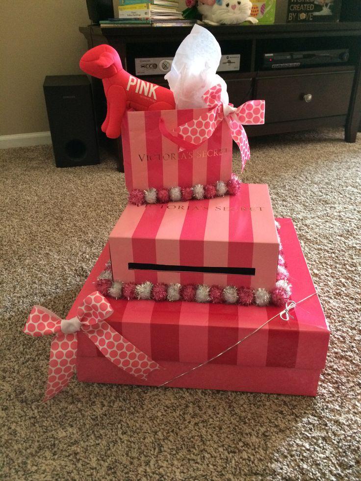 Victoria's Secret Theme card box for Sweet 16 birthday