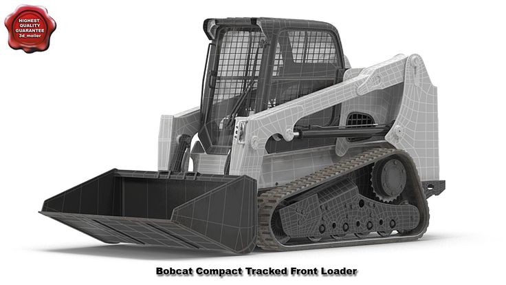 Bobcat Compact Tracked Front Loader Rigged 3d model by 3d_molier Interna...