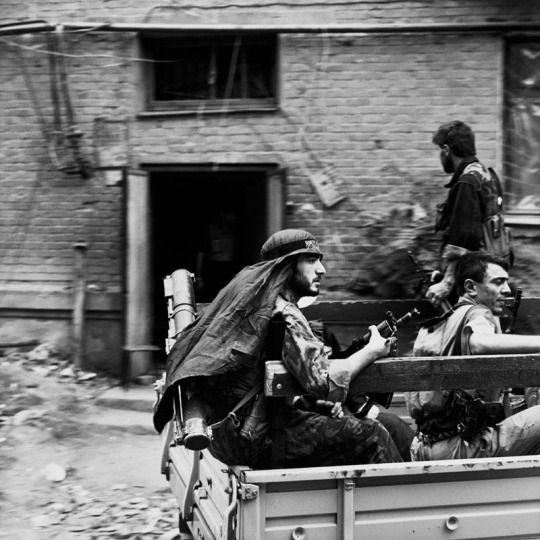 May 1995, Grozny, Chechnya. Photograph: Eric Bouvet
