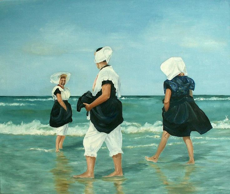 Dutch women in traditional clothing - via @Craftsy