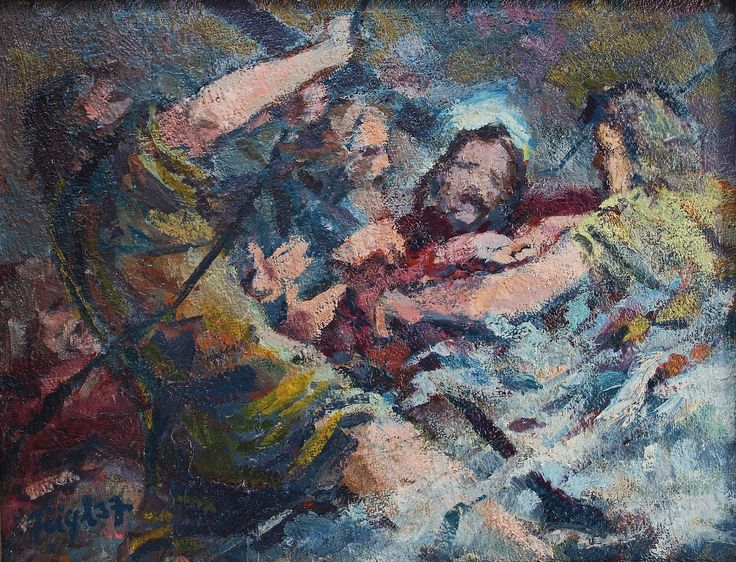 Bedřich Feigl: Kristus na Genezaretském jezeře (Christ in the Storm on the Sea of Galilea), 1937