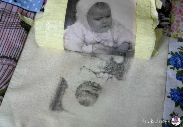 Drucken mit Lavendelöl - Alte Fotos auf Stoff drucken