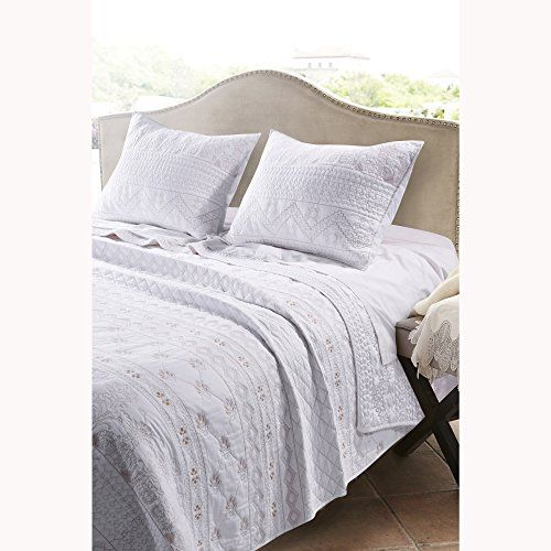 Barefoot Bungalow Milano Quilt Set Twin White Best Quilted