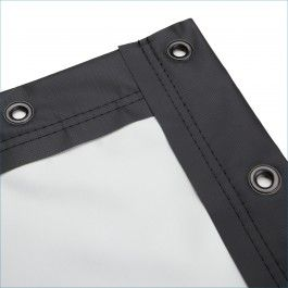 Blackout Cloth Projector Screen - Finished Edges with Grommets