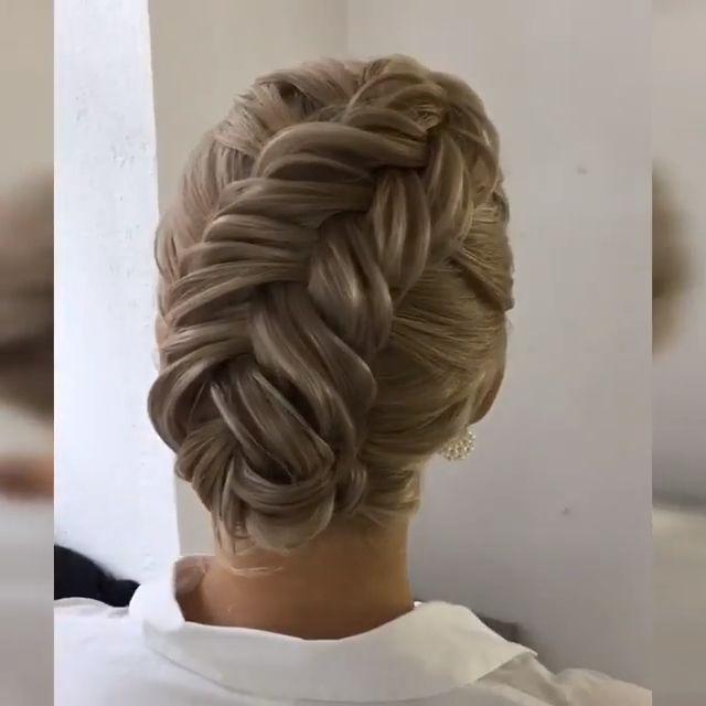 50 Classy Braided Updo Styles For Wedding! – #braided #classy #styles #wedding -… – frisuren