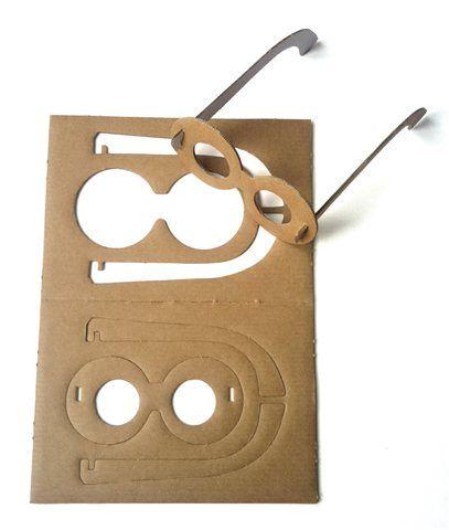 lunettes en cartons amusantes pour faire la fête fabriquées en france