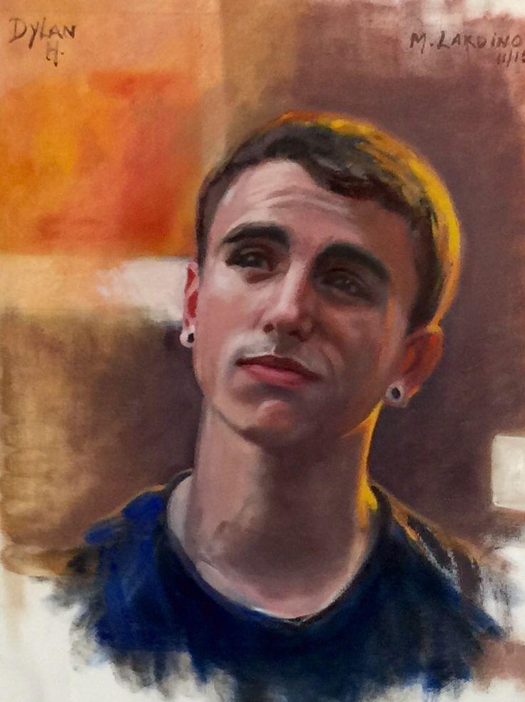 Dylan Harding-Lardino  -- by Marie Lardino - oil on canvas - at Atelier Narasca, Switzerlad. Guided by Patrick Devonas.