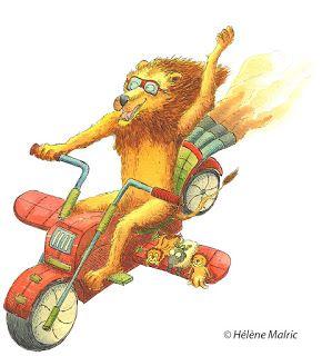 faire-part de naissance personnalisé, custom card, birth card, lion, moto volante
