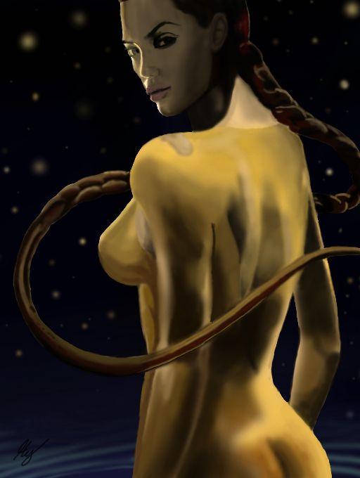 Angelina Jolie nackt: Nacktszenen in Beowulf - Bilder - Jolie