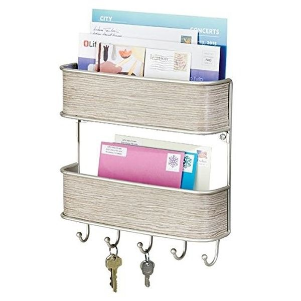 Danya B Entryway White Mdf Key Mail Holder Wall Organizer Ks19053wh The Home Depot In 2020 Entryway Organizer Wall Wall Organization Mail Holder Wall