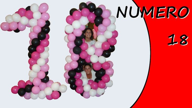 Decorate with balloons for a 18th birthday party #birthday #18th #18thbirthday