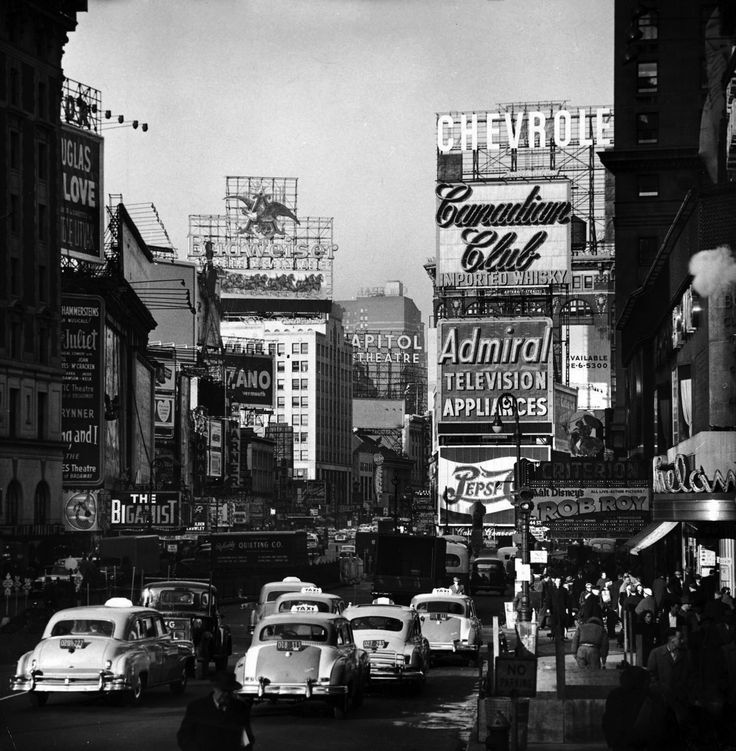 Traffic Congestion on Broadway Looking North, by Andreas Feininger, 1954