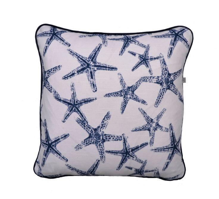 Starfish Cushion . Coastal Cushion . Sea Themed Cushion . Fresh . Ocean life . by JulieAlvesDesigns on Etsy