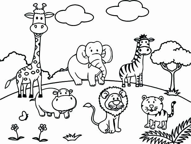 Free Zoo Animal Coloring Pages Di 2020 Dengan Gambar