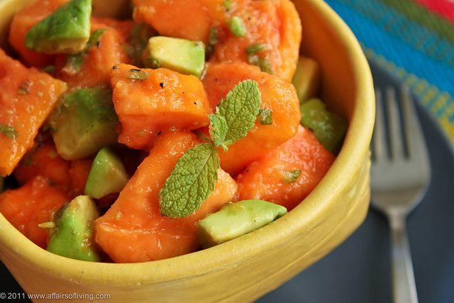 Minted Papaya Avocado Salad by Kim   Affairs of Living, via Flickr