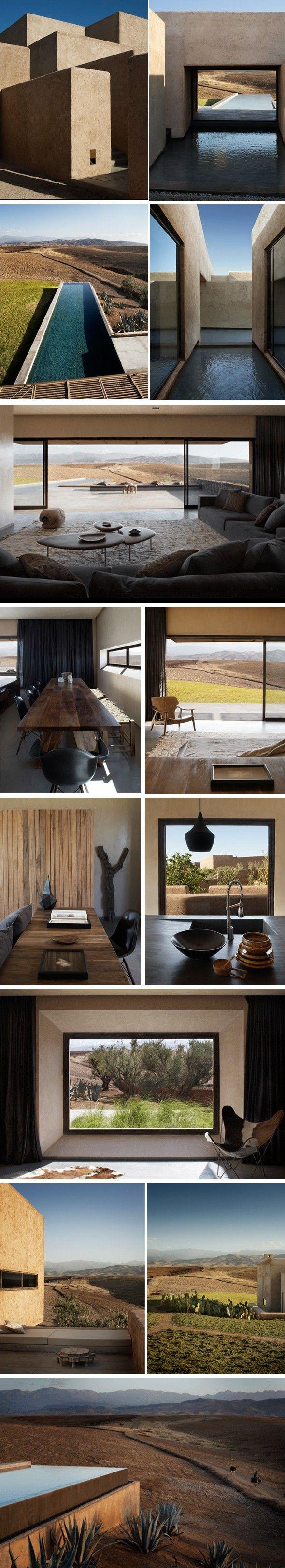 Maison contemporaine au Maroc Les architectes français Karl Fournier et Olivier Marty du studio KO de l'antenne de Marrakech ont réalisé la Villa K. De l'e