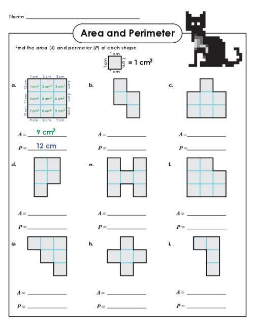 Continue to practice the difference between area and perimeter with this free worksheet! #geometry #areaandperimeter #freemathpractice #freemathworksheets #geometry #measurethearea #measuretheperimeter
