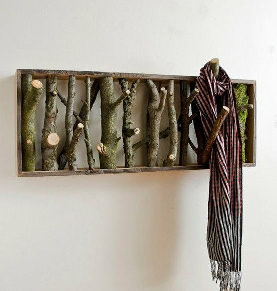 Branch coat hanger - Click image to find more DIY & Crafts Pinterest pins