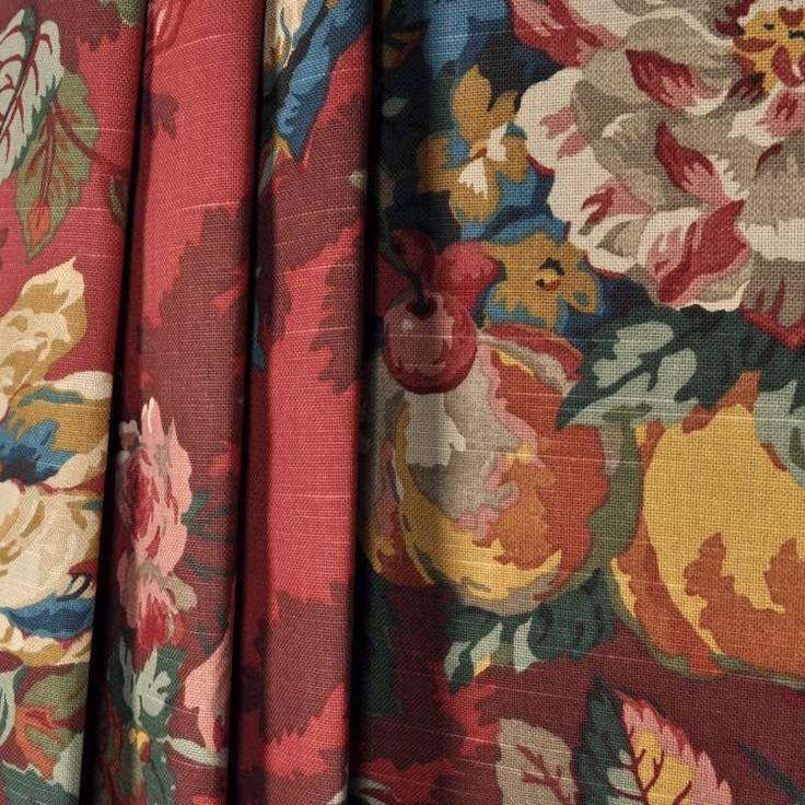 P. Kaufmann Queensland Fabric | Queensland Crimson Fabric