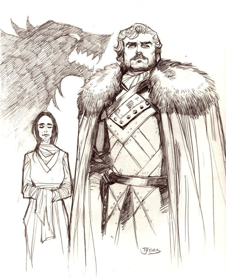 Robb Stark, King of the North by guinnessyde, via deviantart