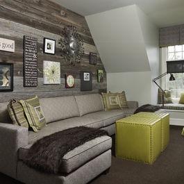 Mur de bois gris