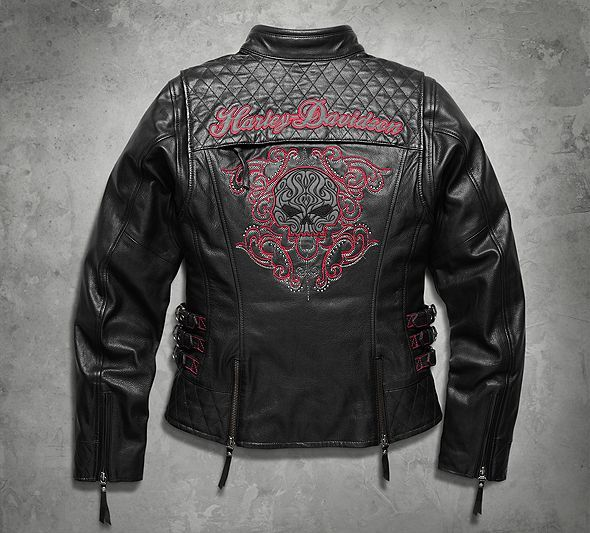 Women's Scroll Skull 3-in-1 Leather Jacket | Leather | Official Harley-Davidson Online Store