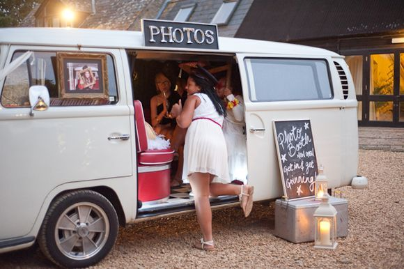 VW bus photobooth- wish i would have thought of this before we sold our bus. :(