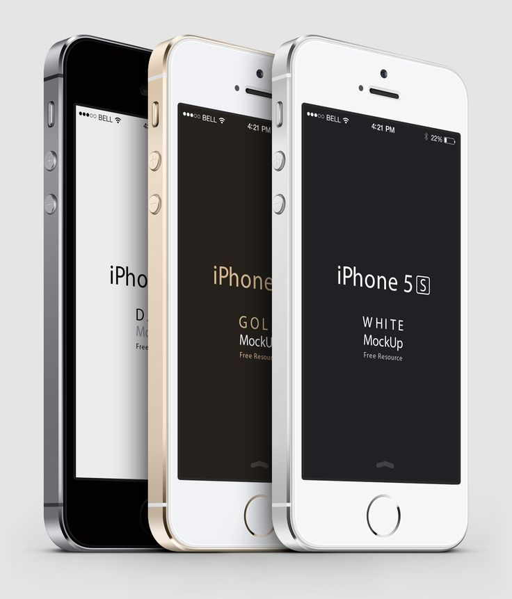 Free iPhone 5s PSD Vector Mockup Downloads