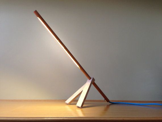 ALamp LED Table Lamp with Colored Fabric Chords by GaganDesign, $185.00