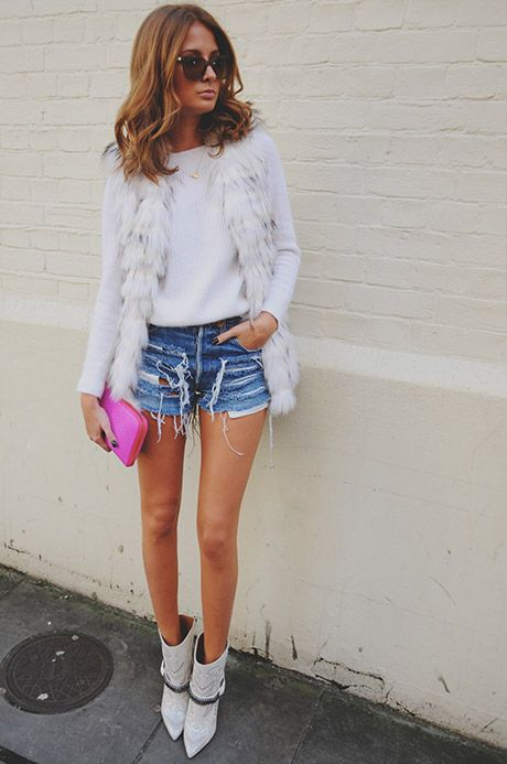 Loving Millie Mackintosh's style diary! :) Especially this snow leopard fur gilet! Shame the price tag is way out of my league :( Style Diary | Millie Mackintosh