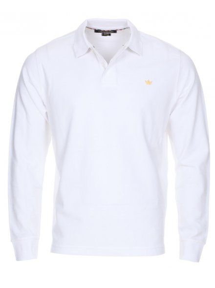 Twisted Soul Mens Optic White Dry Long Sleeve Polo Shirt, £16.99