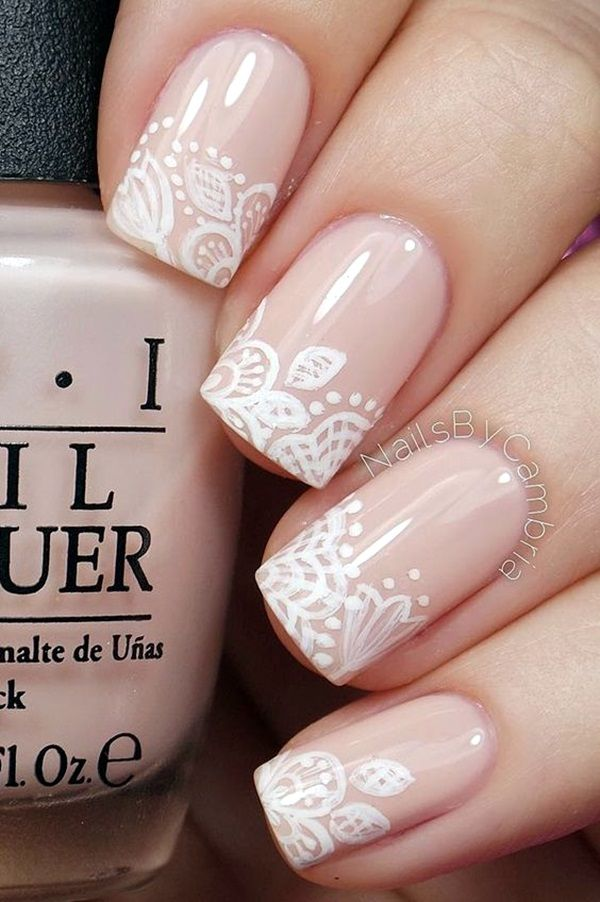 45 Pretty French Nails Designs 2016 | French Nails Designs | Pretty Nails Designs | Lace Nails | Fenzyme.com