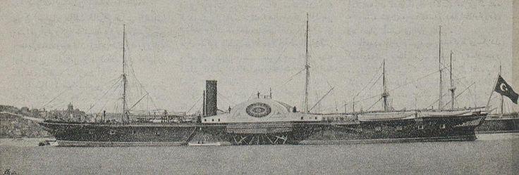 A Steamship, 1895 (Bir Osmanlı Yandançarklı Vapur, 1895)