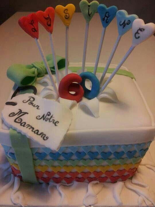 Gâteau anniversaire 60 ans