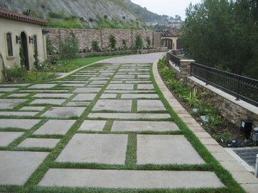Lattice pavers grass pool landscaping ideas   Interlocking Pavers Design Ideas, Pictures, Remodel, and Decor
