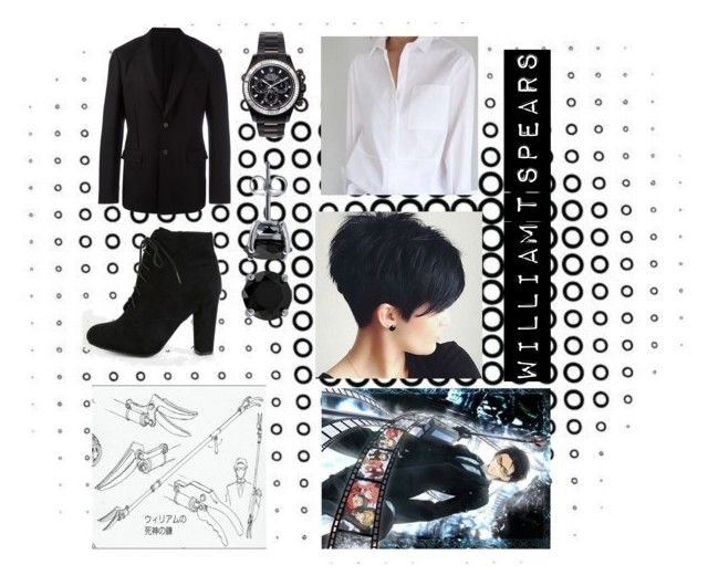 """""""William T Spears gender bend cosplay 💕"""" by griffindorathexplora on Polyvore featuring Givenchy, Mad Collections, BERRICLE, anime, cosplay, BlackButler, Kuroshitsuji and williamspears"""